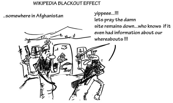 wikipedia blackout cartoon,mysay.in,internet cartoons,