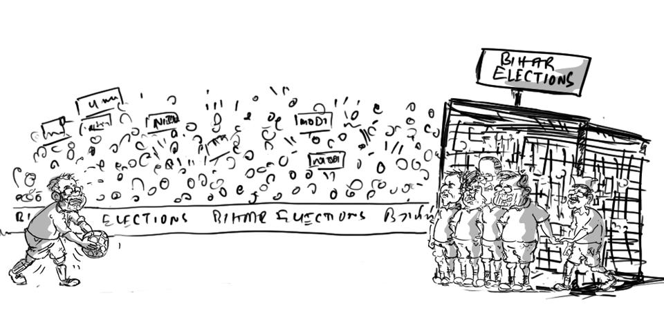 bihar elections cartoon 2015