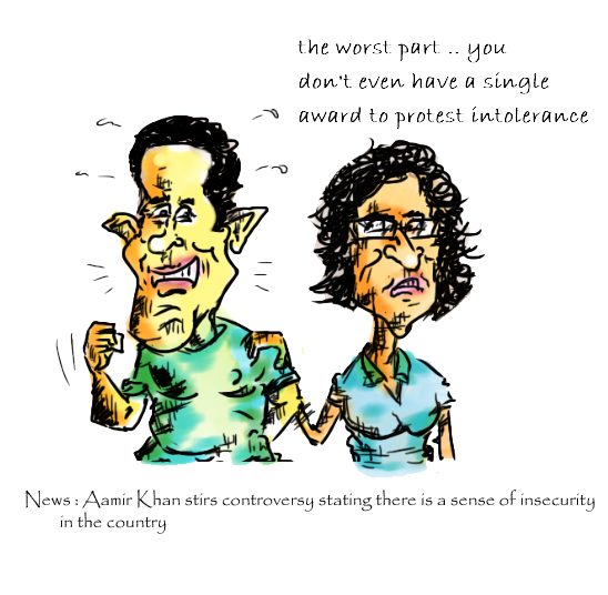 aamir khan cartoon, sunita rao cartoon,