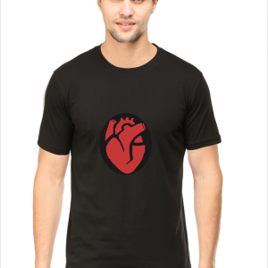 heart t shirt, black half sleeve t-shirt,