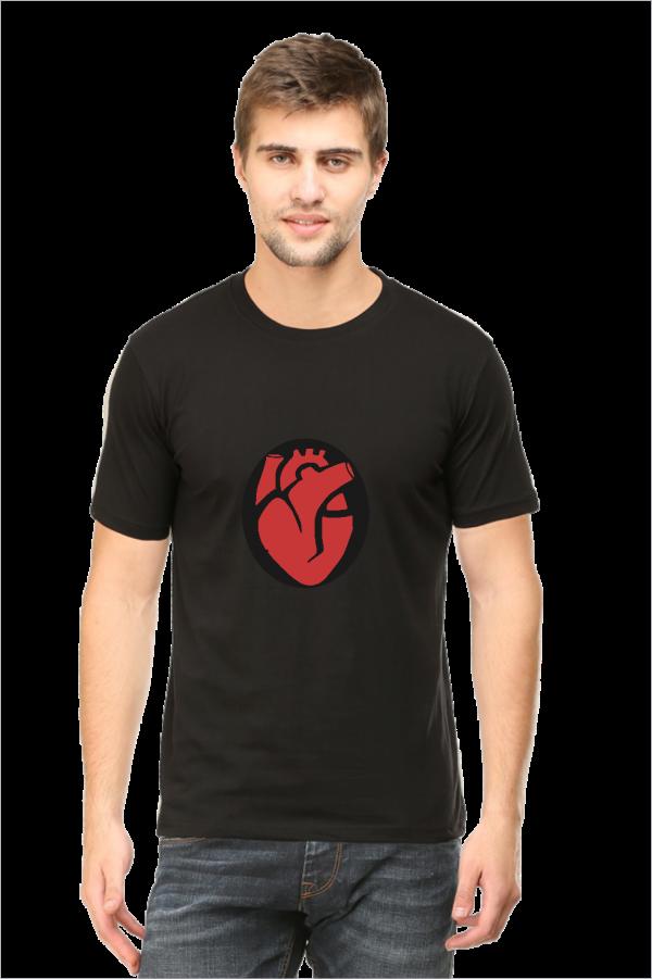 heart t shirt, black half sleeve t-shirt,