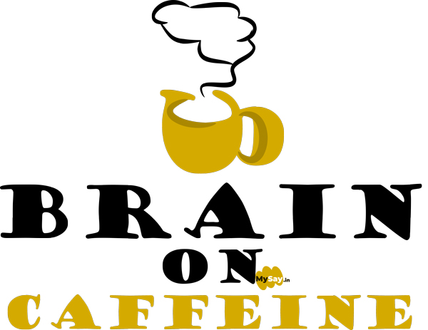 brain on caffeine design quote coffee mug