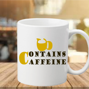 contains caffeine coffee mug, mysay.in
